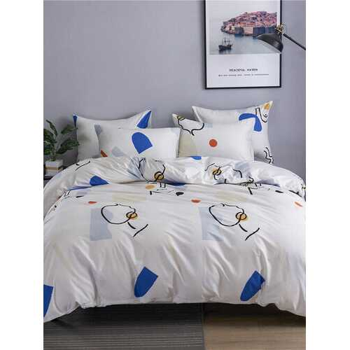 2/3Pcs 100% Cotton Quilt Home Textile Kit Duvet Cover Bedding Cotton Kit Bedding