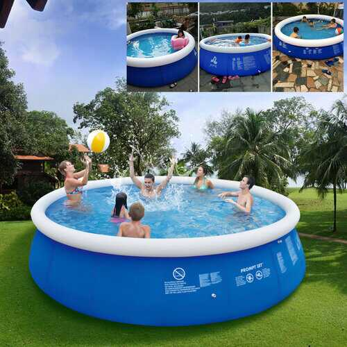 2.4x0.63m/2.4x0.76m Blue Above Ground Swimming Pool Family Pool Inflatable Pool For Adults And Kids
