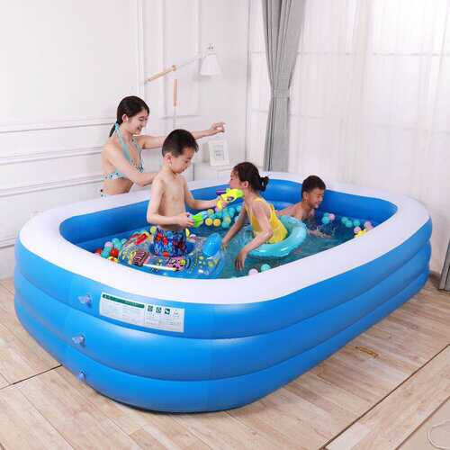 Children's Home Inflatable Pool Swimming Pool Bathtub Pool Blue And White Square Outdoor