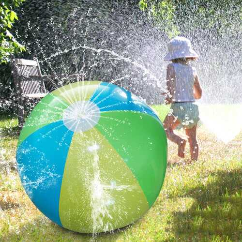 75cm Inflatable Big Water Spray Ball Summer Children Outdoor Play Water Ball Water Spray Beach Ball Lawn Play Toy Ball