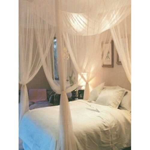 Mosquito Net  4 Corner Post Bed Canopy Mosquito Net Full Queen King Size Netting Bedding