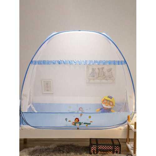 Crib Mosquito Net Yurt Newborn Child Baby Mosquito Net Pops-up Mesh Tent Cover Free Installation With Bottom Folding