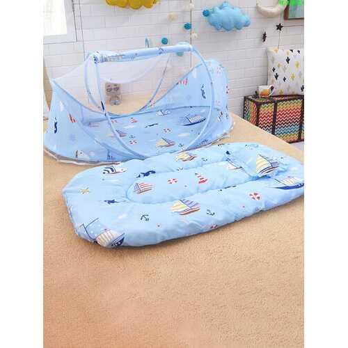 Baby Mosquito Net Three-Piece Foldable Yurt Mickey Baby Mosquito Net