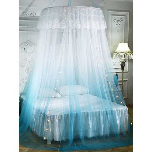 Dome Mosquit o Net Floor Hanging Ceiling Mosquit o Net Gradient Two-color Lace Mosquit o Net