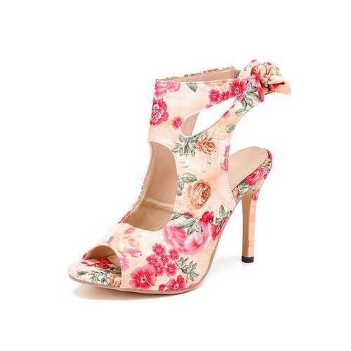 Stiletto Heel Strap Sandals