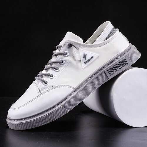 Men White Skateboard Shoes