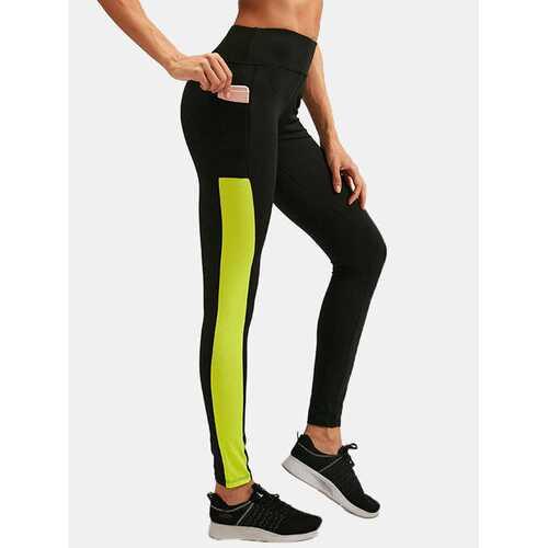 Patchwork Breathable Skinny Yoga Pants