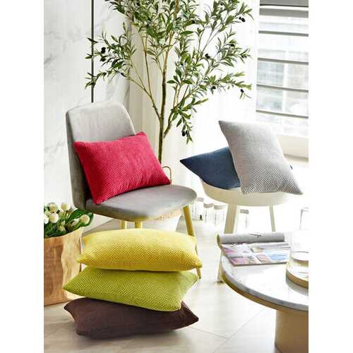 Nordic Simple Solid Color Corduroy Cushion Cover Nordic Style Sofa Rectangular Pillowcase