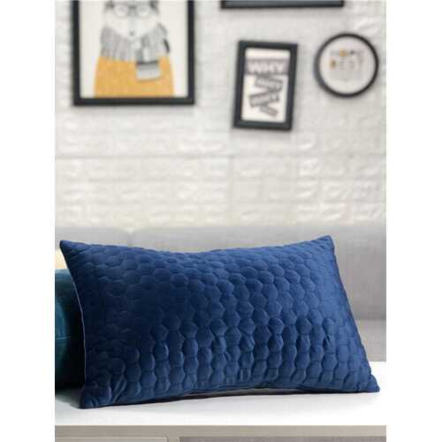 Dutch Velvet Hexagon Embossed Pillowcase Sofa Home Office Cushion Cover Long Waist Pillowcase