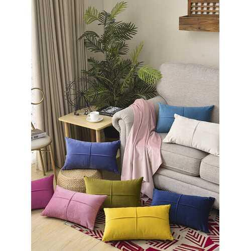 Velvet Cushion Waist Pillowcase Nordic Home Long Waist Pillowcase