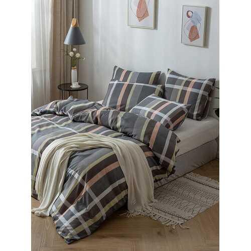 2/3Pcs Stripes Plaid Modern Contrast Color Duvet Cover Set Pillowcase Adults Bed Duvet Set Twin King