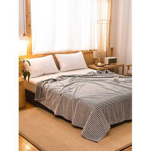1 Pc Gray Winter Double Thick Warmth Coral Fleece Blanket Office Nap Magic Fleece Blanket