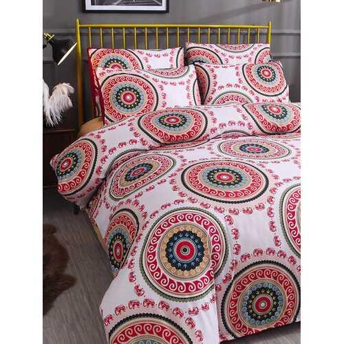 2/3 Pcs Bohemian National Style Geometric Pattern Comfy Bedding Set Duvet Cover Pillowcase