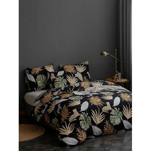 2/3 Pcs Leaf Print Comfy Bedding Set Duvet Cover Pillowcase Twin King