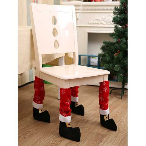 1 Pc Christmas Snowflake Chair Leg Covers Decoration Non-Slip Table Foot Dust Cover