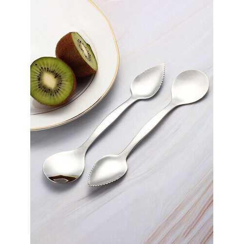 1Pc Multifunctional Double-head Digging Planing Spoon Dual-use Baby Mud Scraping Tool Fruit Digging Spoon
