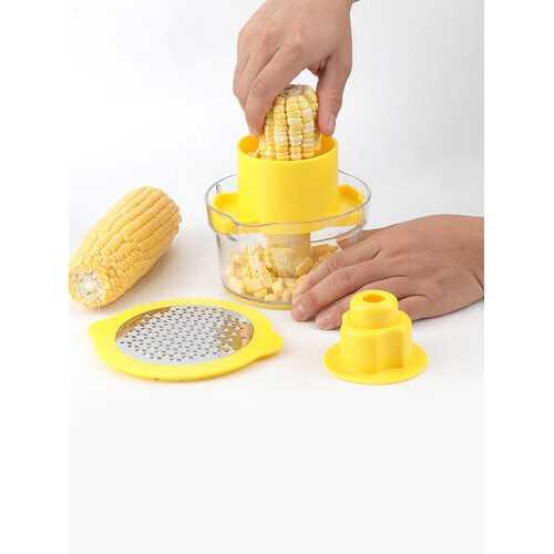 1Pc Stainless Steel Corn Peeler Household Corn Thresher Multifunctional Corn Planer Kitchen Gadget