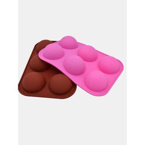1Pc DIY Silicone Cake Mould 6 Hole Half Sphere Shape Handmade Soap Mold Silicone Chocolate Mold