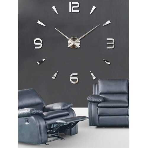 Acrylic Mirror Creative Digital Wall Clock 3D Stereo DIY Simple Wall Sticker Clock