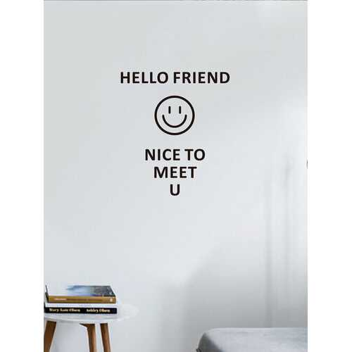 1PC English Letter Welcome Words Creative Self-adhesive Removable Wall Decal Home Decor For Living Room Office Cafe Shop Wall Sticker
