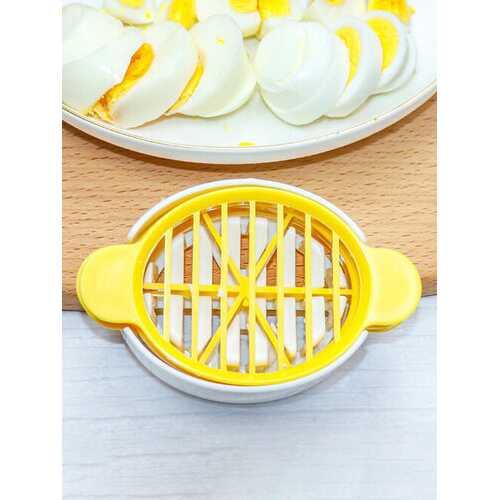 1PC Three-in-one Plastic Anti-break Creative Kitchen Tool Egg Cutter Egg Slicer Mould