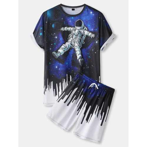 Astronaut Galaxy Print Casual Set