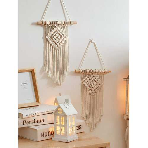 1PC Macrame Bohemian Wall Hanging Tapestry Tassel Hand Woven Tapestries For Bedroom Living Room Wall Curtains