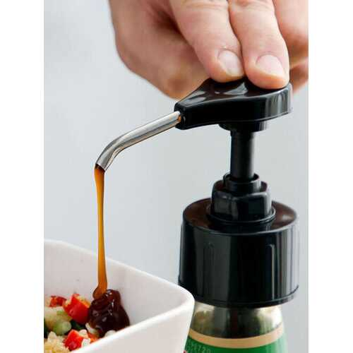1PC Stainless Steel Squeezer Syrup Oil Bottle Pressure Nozzle Household Sauce Push-type Pump Kitchen Restaurant Supplies Kitchen Tools