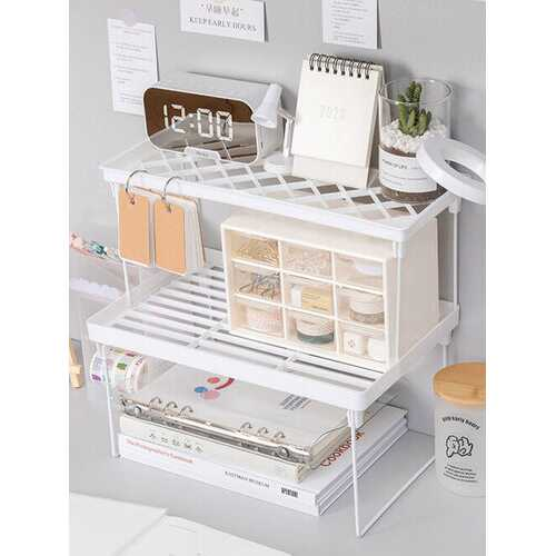 1PC Home Closet Organizer Desktop Storage Shelf For Kitchen Rack Space Saving Wardrobe Decorative Shelves Cabinet Holders