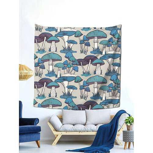1PC Mushroom Cartoon Printing Tapestry Home Decor Living Room Bedroom Photo Prop Wall Art Tapestries
