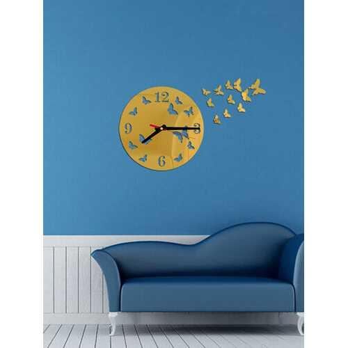 Acrylic Mirror Stickers Wall Clock Modern Design Fairy Butterfly 3D DIY Duvar Saati Clocks For Girl Gift Living Room Home Decor