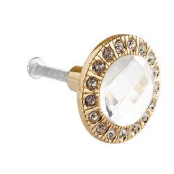3cm Round Pull Handle Clear Crystal Glass Drawer Cabinet Knob Cupboard Wardrobe