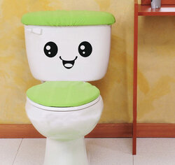 Cute Smiling Face Stickers Bathroom Waterproof Toilet Stickers Closestool Stickers
