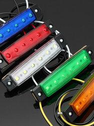 12V/24V SMD 6 LED Front Side Marker Indicator Lights for Car Truck Trailer Lorry Bus
