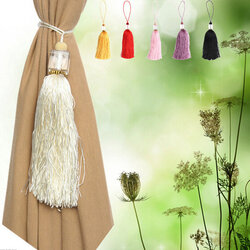 Luxury Glass Crystal Tassels Curtain Tieback Buckle Drapery Holder Home Decor