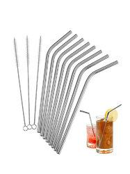 8Pcs Reusable Drinking Straws