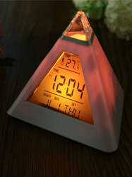 Pyramid Digital LED Alarm Clock