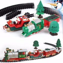 Musical Christmas Train and Carriages