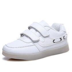 Category: Dropship Kids & Mom, SKU #SKU319714, Title: Kids Colorful LED Shoes Sneakers Light Up Sports Shoes Dance Magic Tapes