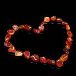 100g DIY Carnelian Natural Tumbled Carnelian Carved Crystal Stones