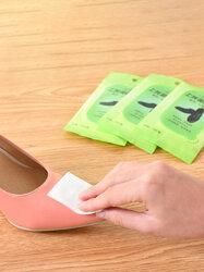 10 Pcs Non-woven Portable Shoes Wipes Disposable Decontamination Shoe Polish