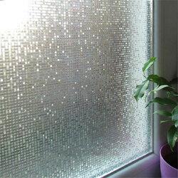 45 x 200cm 3D Static Removable Translucent Window Glass Film