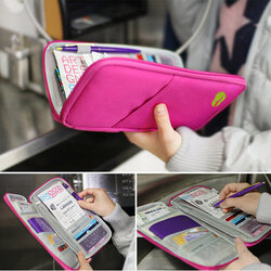 Portable Multifunctional Travels Card Ticket Holder Wallet Purse Storage Bag