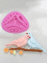 Love Bird Shape Silicone Mold For Fondant Cake Mold Bakware Tools Soap Mold Sugar Tool