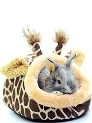 Giraffe Shaped Small Animal Bed Nest