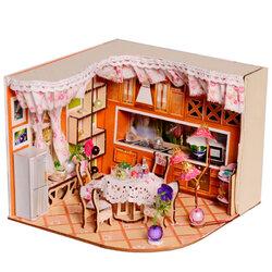 Merry Puzzle Sweet Home Habitat Room DIY Dollhouse Kit With LED Light Wood Decoration