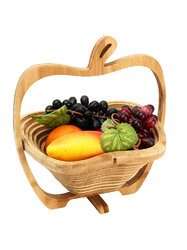 Collapsible Apple Shaped Bamboo Basket