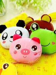 Animal Cute Duck Frog Panda Pig Bear Nylon Waterproof Portable Folding Bag Storage Bags