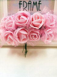 12 Heads Real Touch Rose Artificial Fake Flowers Plants Bouquet Bridal Party Wedding Home Decor