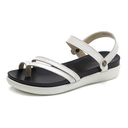 Large Size Two Way Wearing Clip Toe Low Heel Flat Sandals